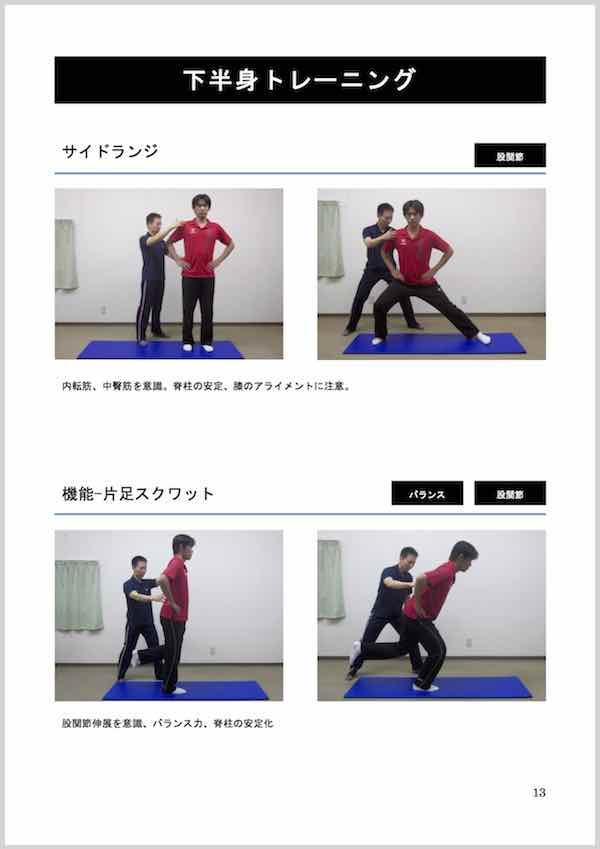 見せる マニュアル/自重トレーニング指導