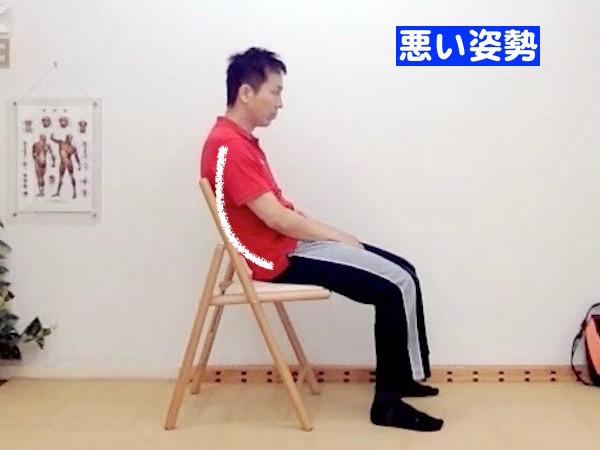 座り姿勢、悪い姿勢の例