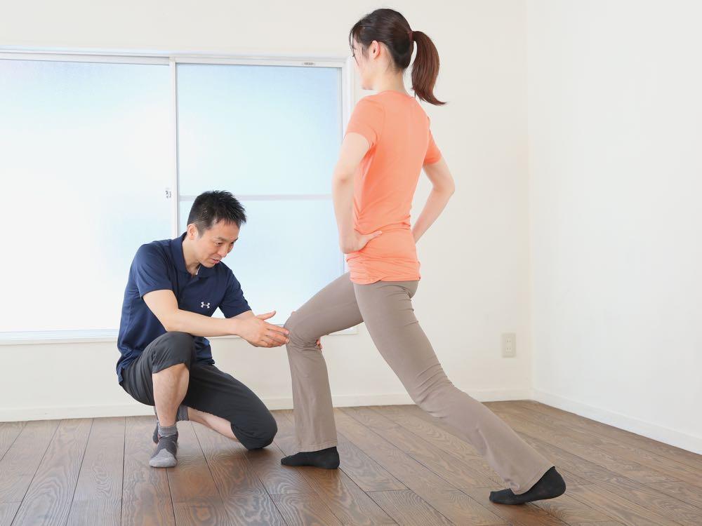 膝のアライメント矯正 ランジ