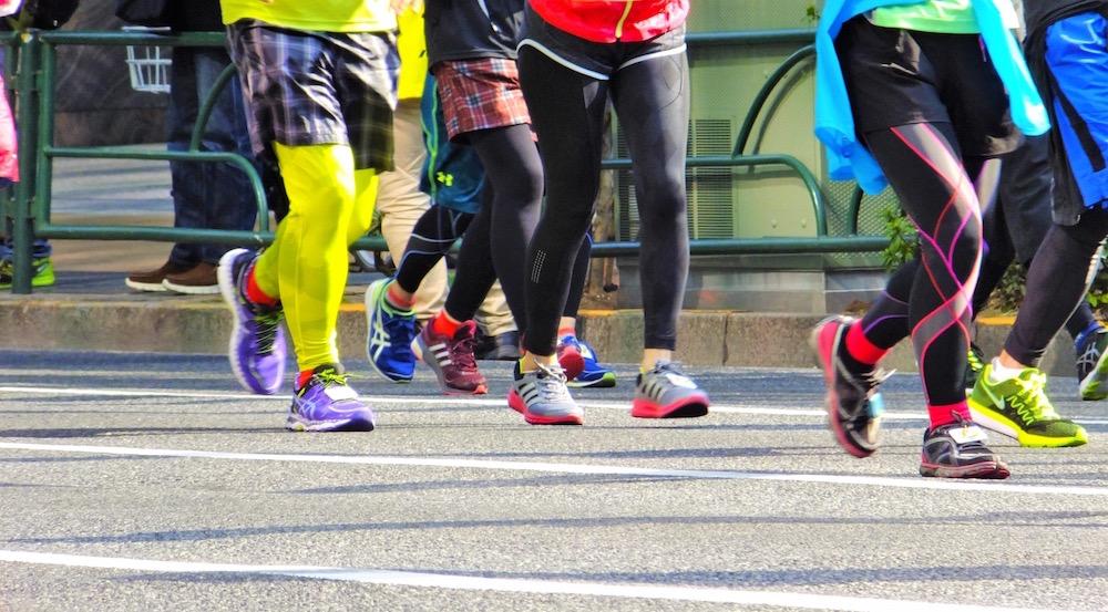 マラソン、ランナーコース